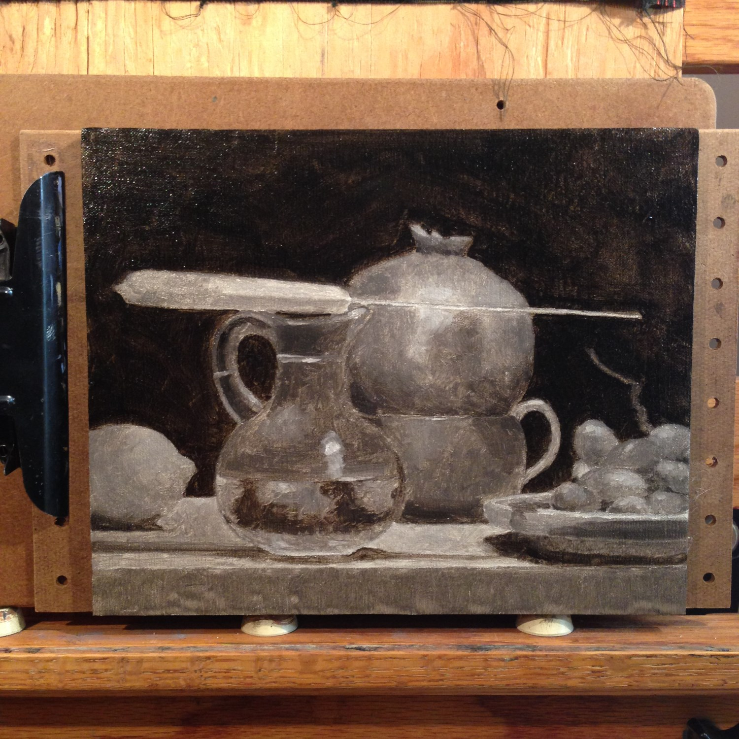 The underpainting phase