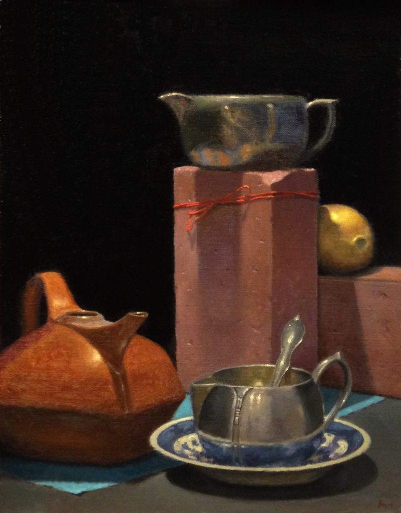 Jeffrey Hayes: Oil Painting: Still Life Painting: Race to the Top