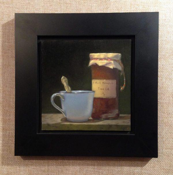 """""""Tea and Marmalade"""", oil, 5x5, $550"""