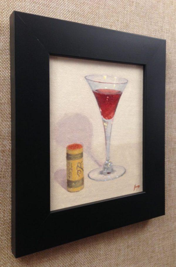 Wineglass and Cork
