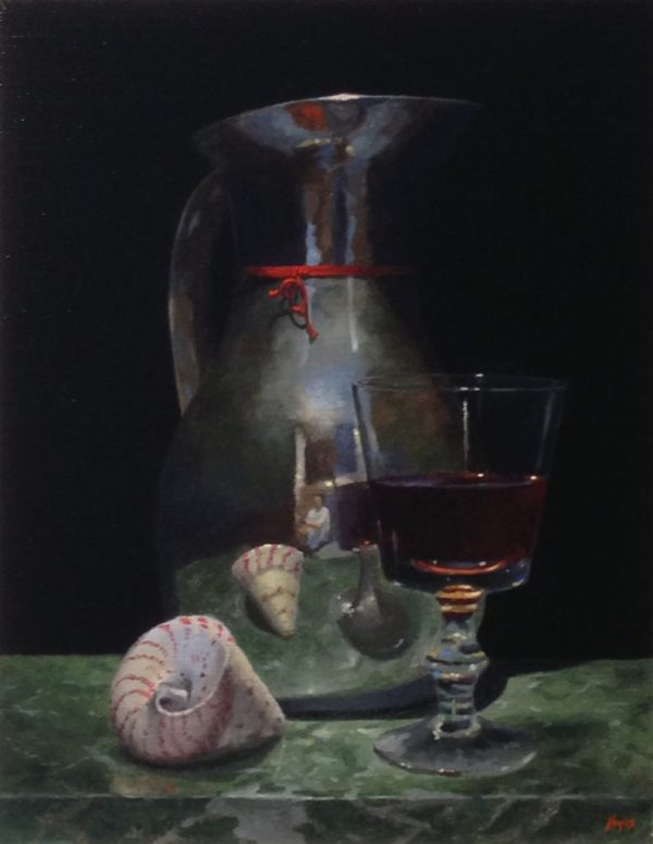Silver Pitcher and Shell