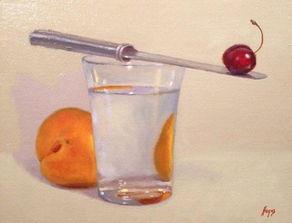 Plum, Water Glass, Cherry