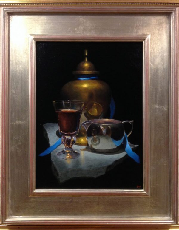 Still Life with Brass and Silver