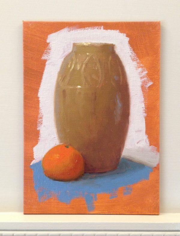 Warm-Up Sketch: Orange and Vase