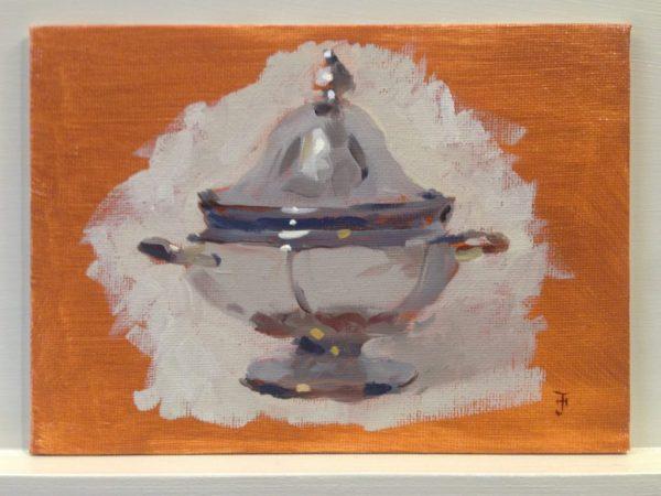 Warm-Up Sketch: Silver Relish Dish