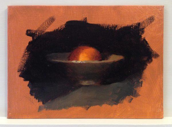 Warm-Up Sketch: Handmade Bowl with Orange