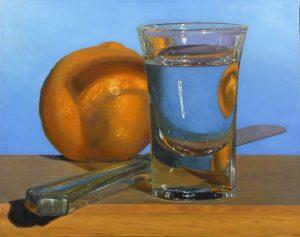 """Tangerine, Knife, Shotglass"""