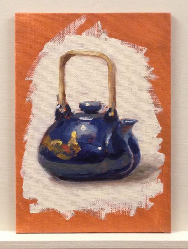 Warm Up Sketch: Blue Japanese Teapot