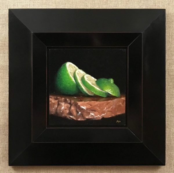 Sliced Lime on Stone