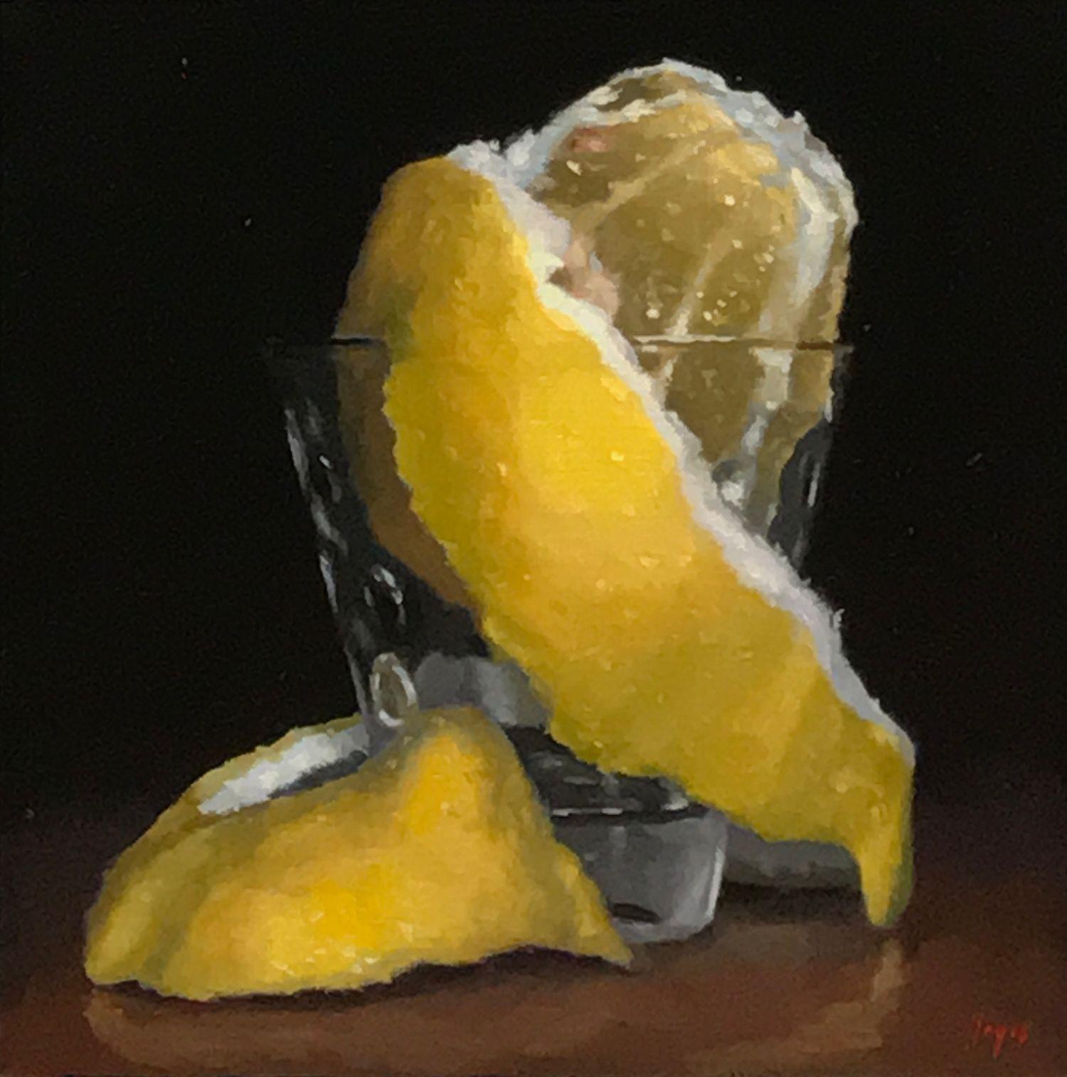 """Peeled Lemon in Shotglass"""