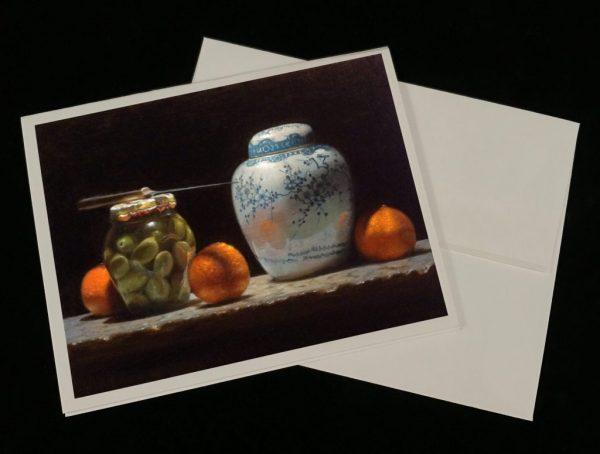 Art Cards - Oranges, Olives, Ginger Jar