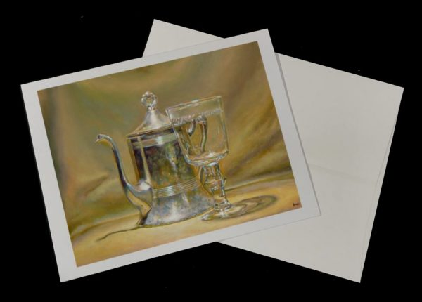 Art Cards - Silver Teapot and Glass