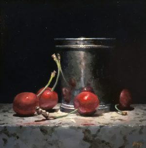 """Red Cherries, Silver Cup"""
