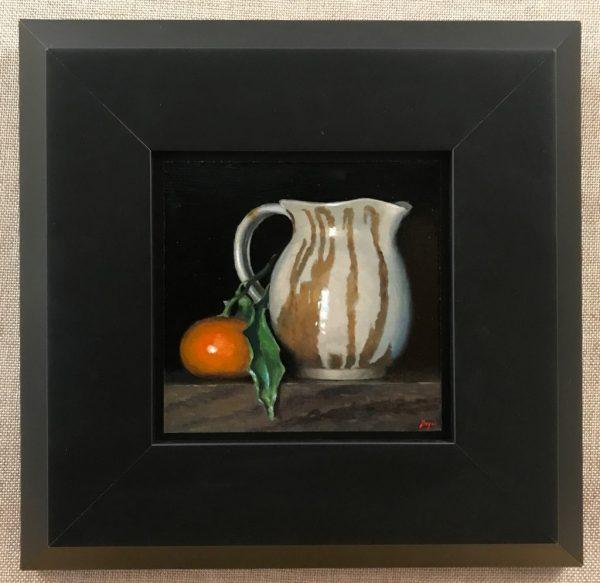 Mandarin Orange and Ceramic Pitcher