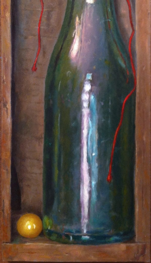 """Boxed Bottle"", oil, 15x5, $1450"