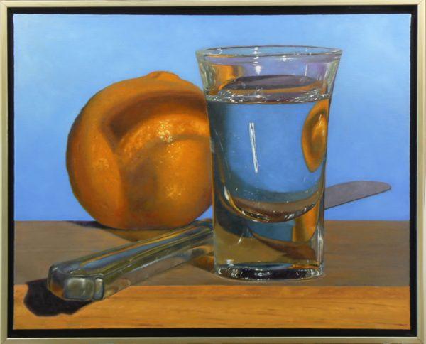 Tangerine, Knife, Shotglass