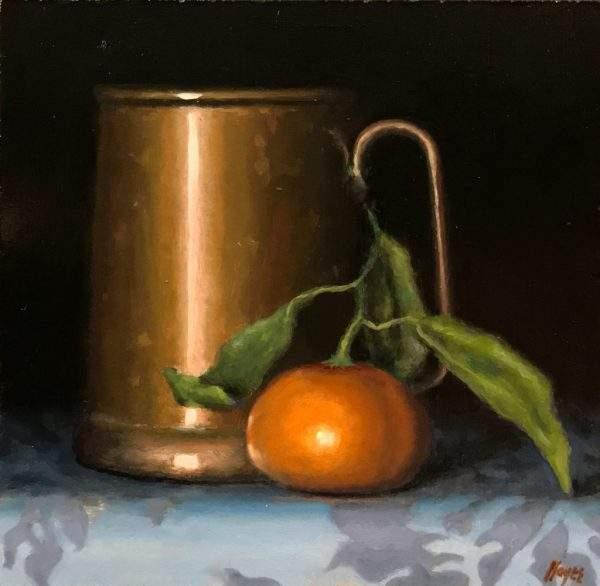 Copper Tankard and Satsuma Orange