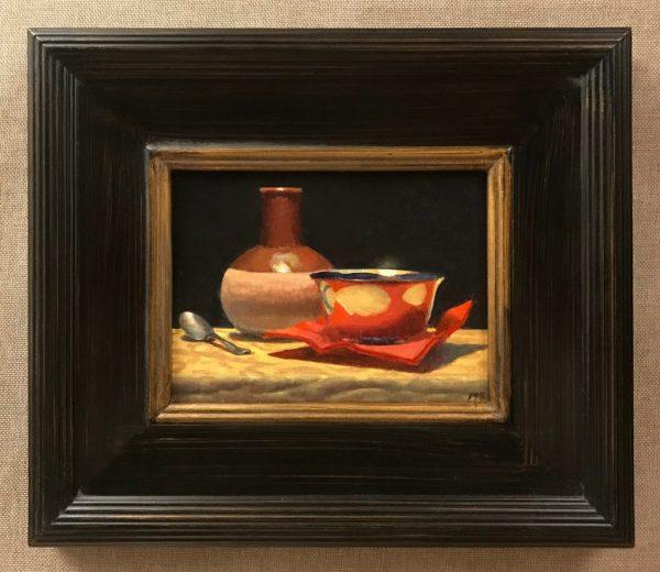 Spoon, Vase, Silver Bowl