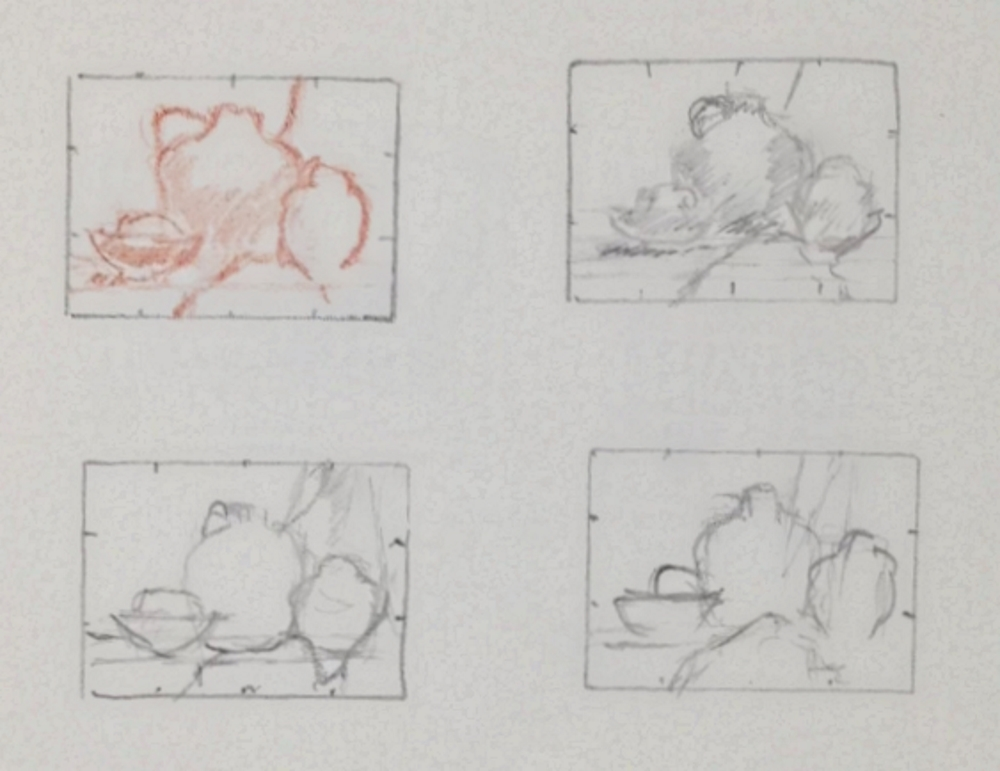 Thumbnail sketches of the model