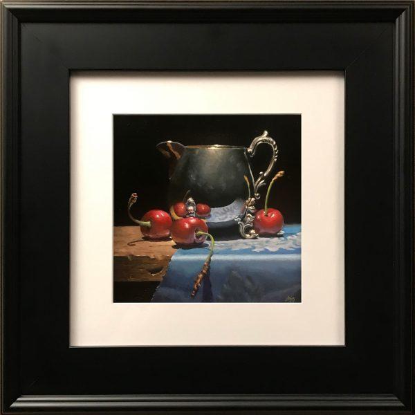 """Cherries and Silver"" Fine Art Print"