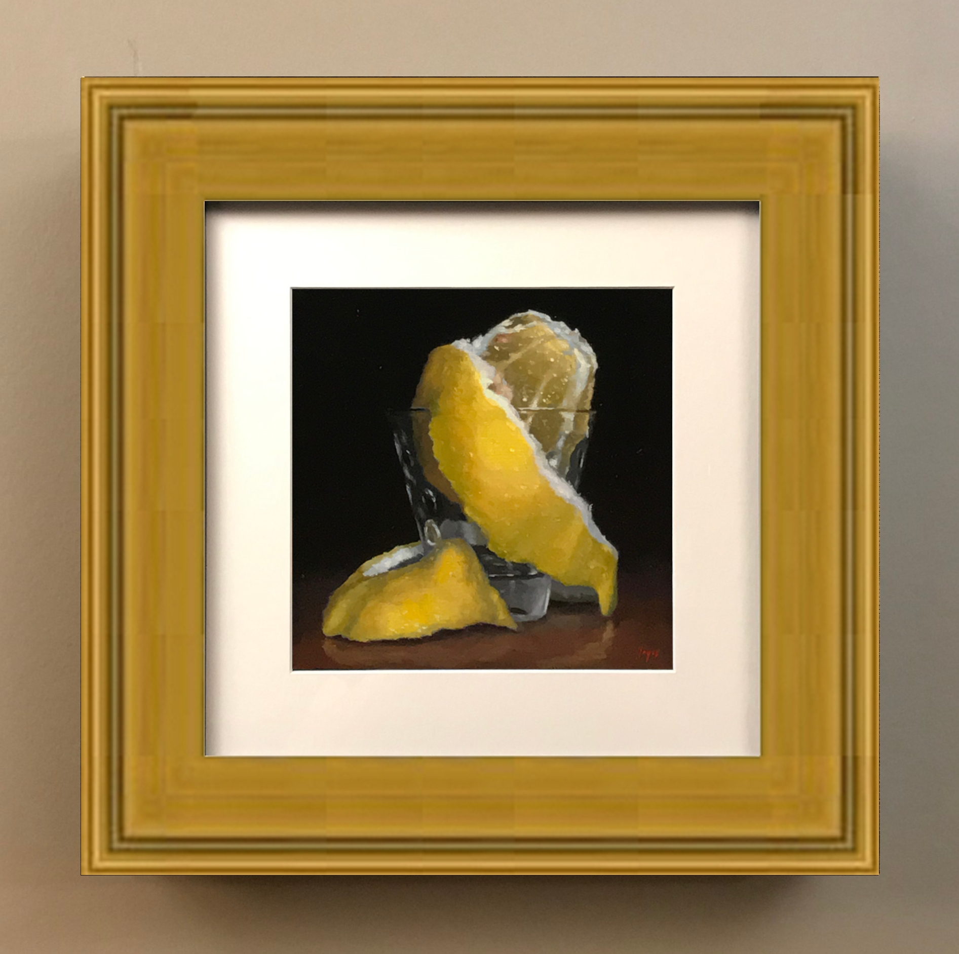 Matted Print with Gold Frame