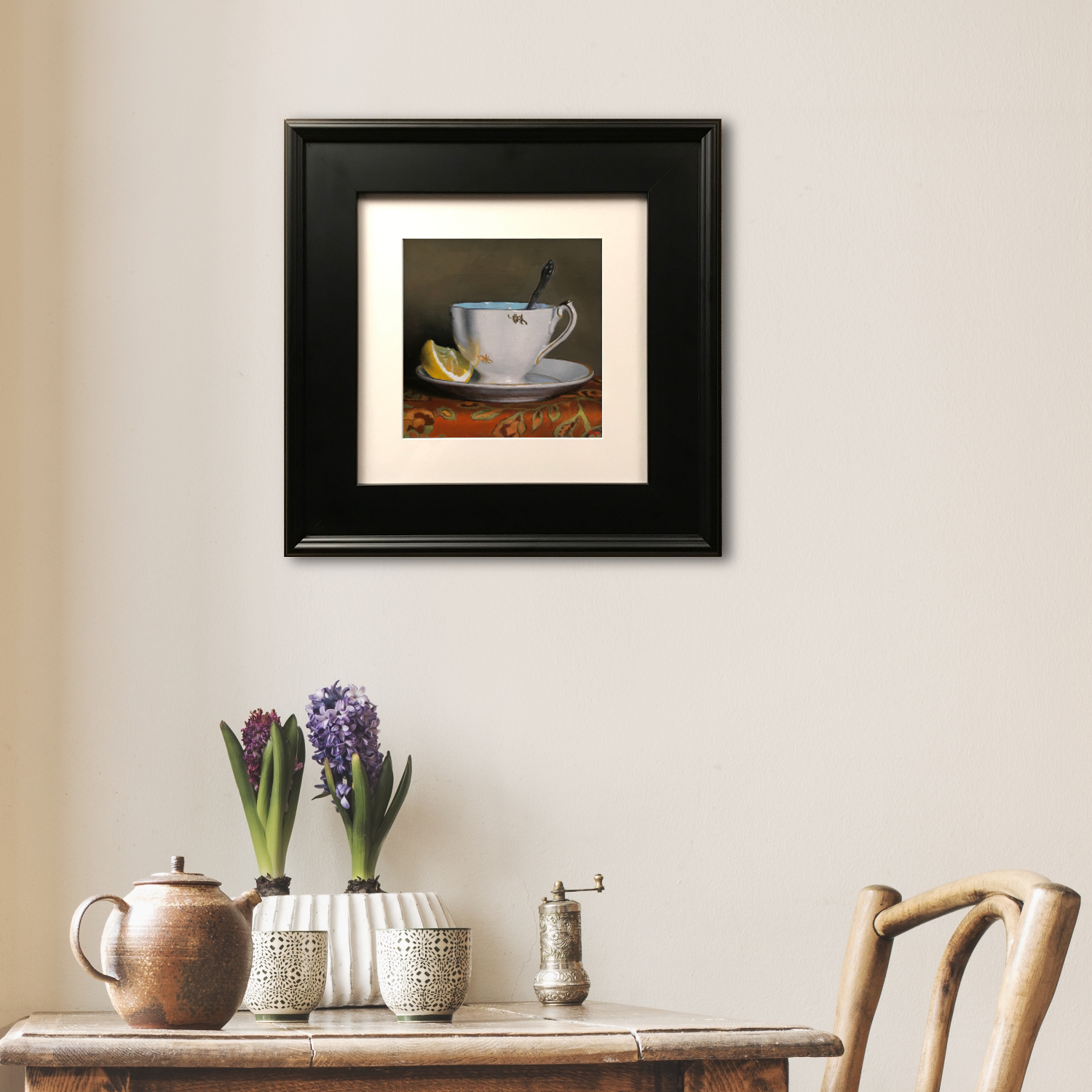 Matted Print with Black Frame