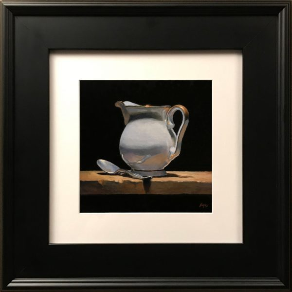 """""""Silver Spoon and Creamer"""" Fine Art Print"""