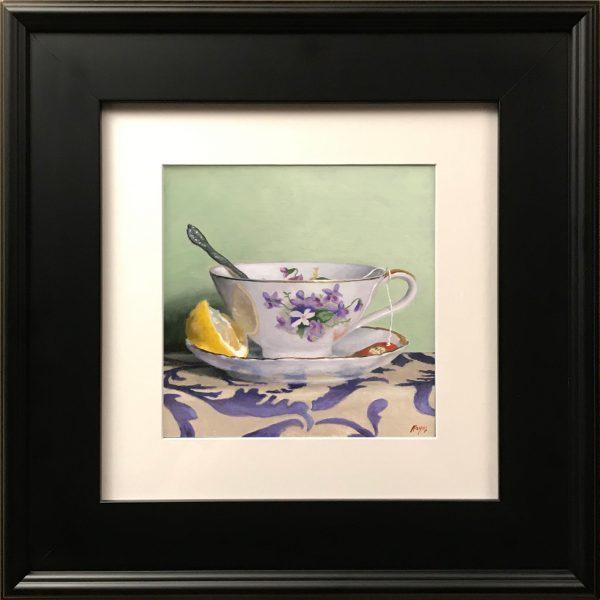 """Teacup, Lemon, Silver"" Fine Art Print"