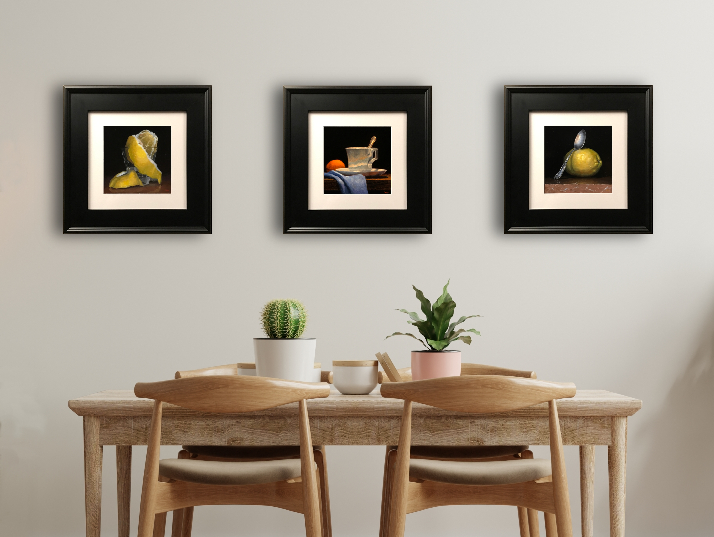 Matted Prints with Black Frames