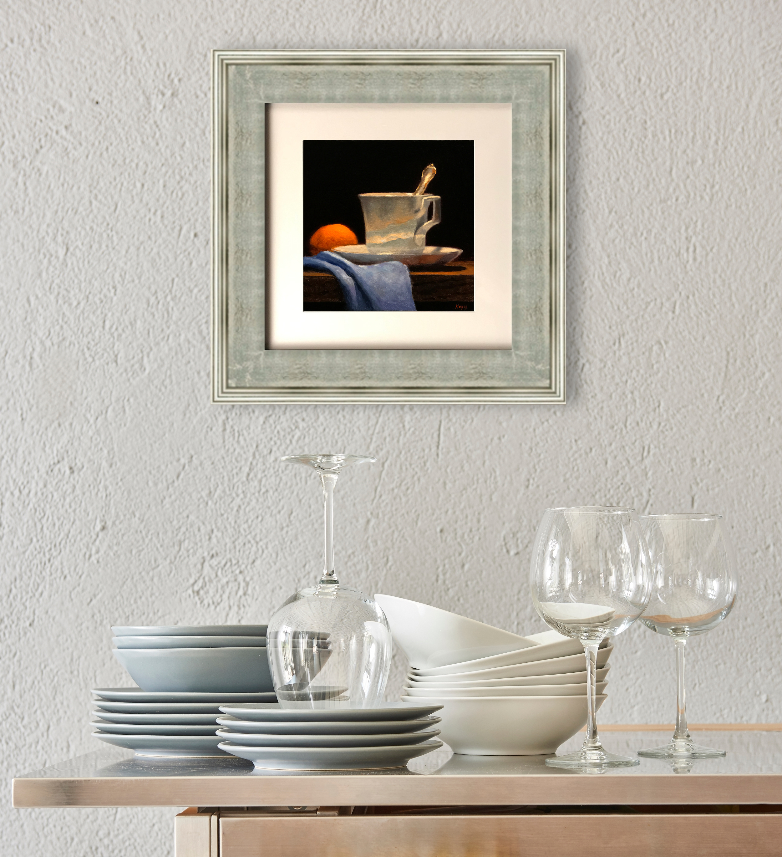 Matted Print with Silver Frame