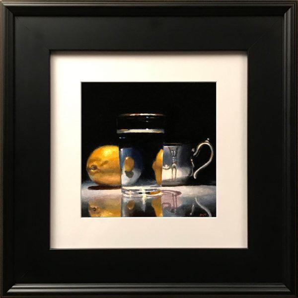 """""""Lemon, Silver, Glass"""" Fine Art Print"""